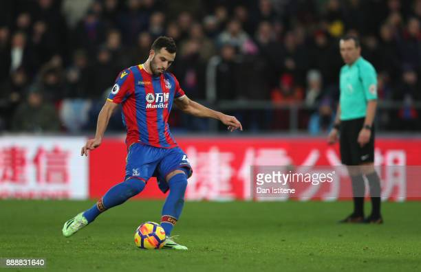 Luka Milivojevic of Crystal Palace scores his sides first goal from the penalty spot during the Premier League match between Crystal Palace and AFC...