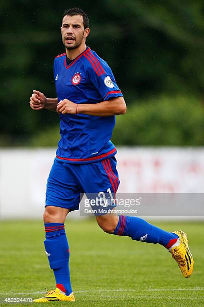 Luka Milivojevic of Olympiacos in action during the pre season friendly match between FC Twente and Olympiacos Piraeus held at Sportpark Veenoord on...
