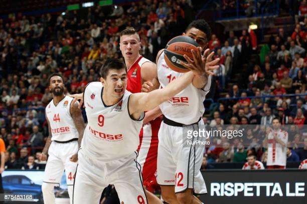 Luka Mitrovic during a game of Turkish Airlines EuroLeague basketball between AX Armani Exchange Milan vs Brose Bamberg at Mediolanum Forum on...