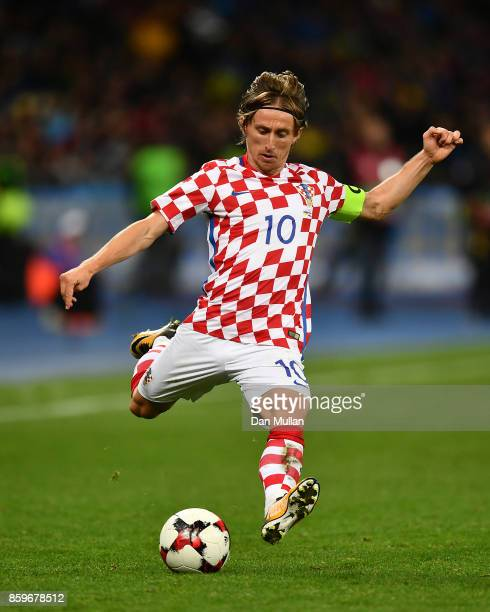 Luka Modric of Croatia controls the ball during the FIFA 2018 World Cup Qualifier Group I match between Ukraine and Croatia at Kiev Olympic Stadium...