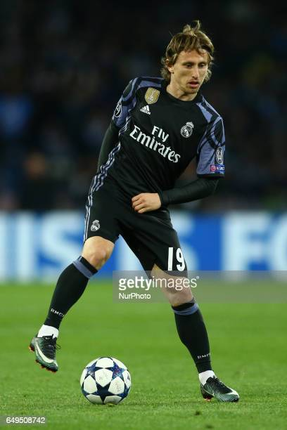 Luka Modric of Real Madrid at San Paolo Stadium in Naples Italy on March 7 2017