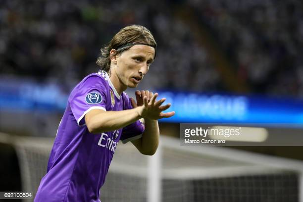 Luka Modric of Real Madrid CF during the UEFA Champions League final match between Juventus FC and Real Madrid CF Real Madrid beat Juventus 41 to win...