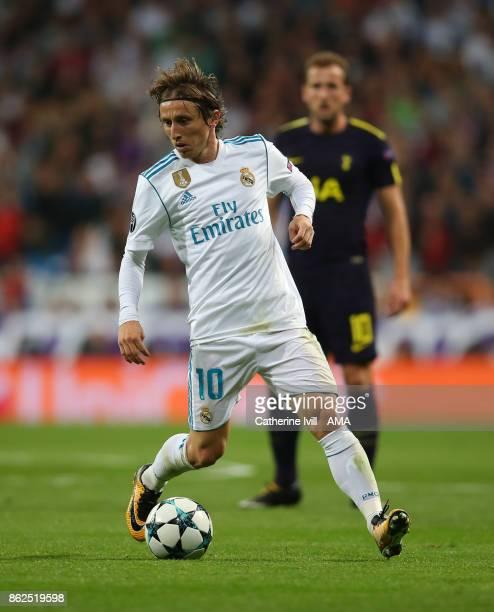 Luka Modric of Real Madrid during the UEFA Champions League group H match between Real Madrid and Tottenham Hotspur at Estadio Santiago Bernabeu on...