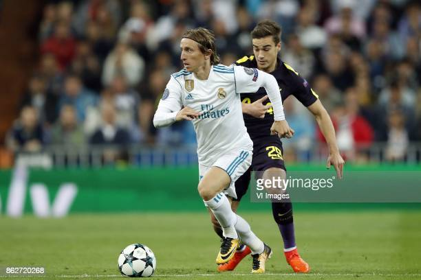 Luka Modric of Real Madrid Harry Winks of Tottenham Hotspur FC during the UEFA Champions League group H match between Real Madrid and Tottenham...