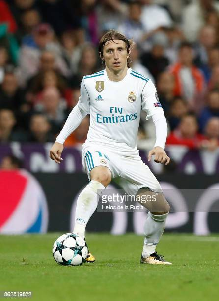 Luka Modric of Real Madrid in action during the UEFA Champions League group H match between Real Madrid CF and Tottenham Hotspur at Estadio Santiago...