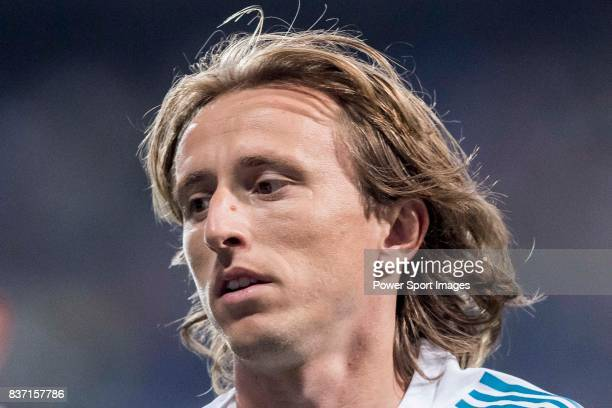 MADRID SPAIN AUGUST 16 Luka Modric of Real Madrid in training prior to the Supercopa de Espana Final 2nd Leg match between Real Madrid and FC...