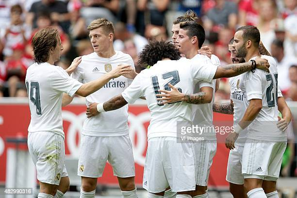 Luka Modric of Real Madrid Toni Kroos of Real Madrid Marcelo of Real Madrid James of Real Madrid Jese of Real Madrid during the AUDI Cup match...