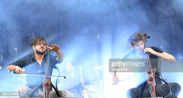 Luka Sulic and Stjepan Hauser of '2Cellos' perform at Zeppelinfeld on June 4 2017 in Nuremberg Germany