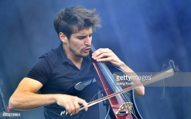 Luka Sulic of '2Cellos' performs at Zeppelinfeld on June 4 2017 in Nuremberg Germany