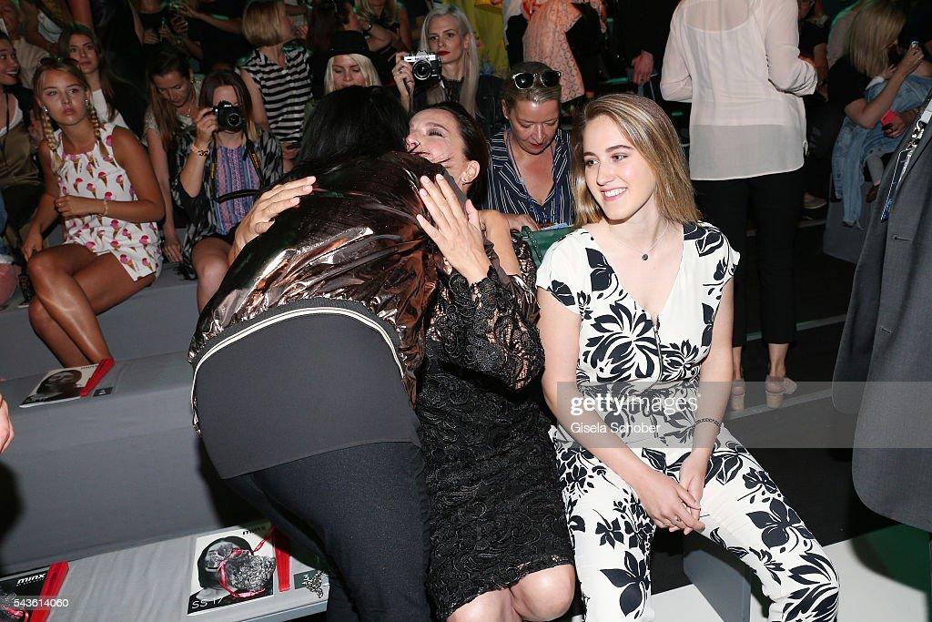 Luka Teresa-Gerda Kloser and Desirée Nosbusch attend the Minx by Eva Lutz show during the Mercedes-Benz Fashion Week Berlin Spring/Summer 2017 at Erika Hess Eisstadion on June 29, 2016 in Berlin, Germany.