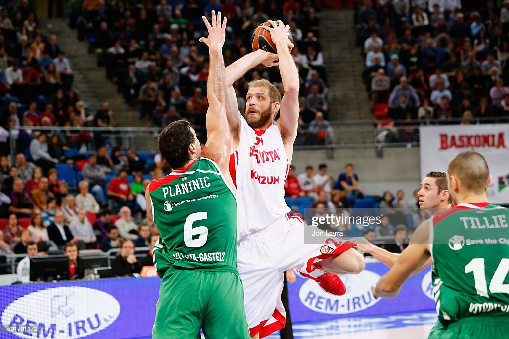 Luka Zoric, #21 of Cedevita Zagreb in action during the Turkish Airlines Euroleague Basketball Regular Season Round 10 game between Laboral Kutxa Vitoria Gasteiz v Cedevita Zagreb at Fernando Buesa Arena on December 17, 2015 in Vitoria-Gasteiz, Spain.
