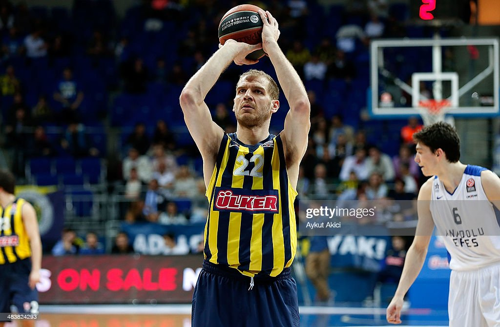 Luka Zoric, #22 of Fenerbahce Ulker Istanbul in action during the 2013-2014 Turkish Airlines Euroleague Top 16 Date 14 game between Fenerbahce Ulker Istanbul v Anadolu EFES Istanbul at Ulker Sports Arena on April 10, 2014 in Istanbul, Turkey.