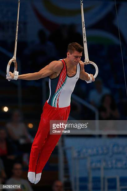 Lukas Dauser of Germany in action during the German Gymnastics Championship at Sporthalle Hamburg on June 25 2016 in Hamburg Germany