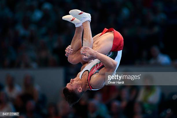 Lukas Dauser of Germany in action during the German Gymnastics Championship Day 2 at Sporthalle Hamburg on June 26 2016 in Hamburg Germany