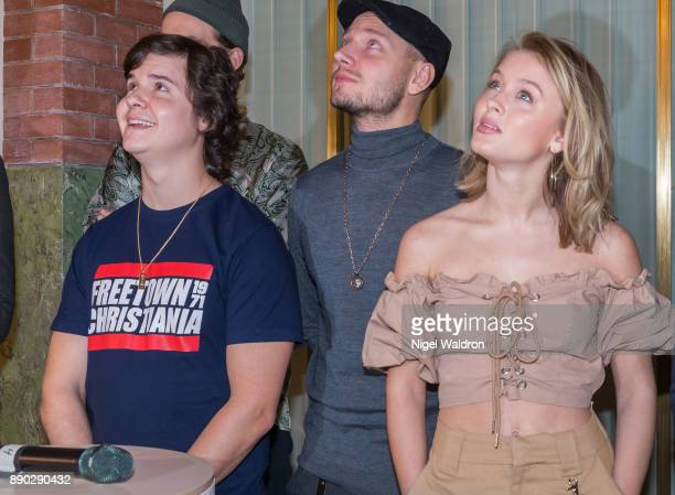 Lukas Graham and Zara Larsson attend the press conference ahead of the Nobel Peace Prize Concert 2017 at the Norwegian Nobel Institute on December 11...
