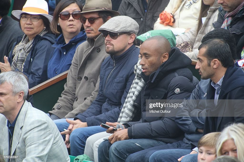 <a gi-track='captionPersonalityLinkClicked' href=/galleries/search?phrase=Lukas+Haas&family=editorial&specificpeople=239113 ng-click='$event.stopPropagation()'>Lukas Haas</a> and Leonardo Dicaprio seen as Celebrities At French Open 2013 - Day 15 at Roland Garros on June 9, 2013 in Paris, France.