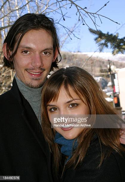 Lukas Haas and Rachael Leigh Cook during 2003 Sundance Film Festival 'Bookies' Outdoor Portraits at Main Street Park City in Park City Utah United...
