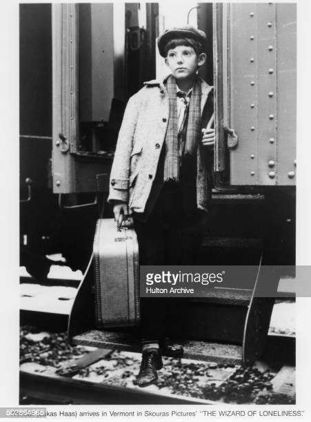 Lukas Haas arrives on the train in a scene from the movie 'The Wizard of Loneliness' circa 1988