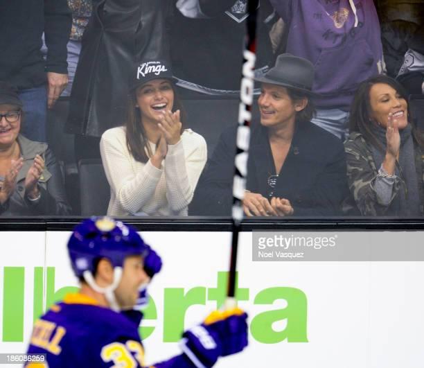 Lukas Haas attends a hockey game between the Edmonton Oilers and the Los Angeles Kings at Staples Center on October 27 2013 in Los Angeles California