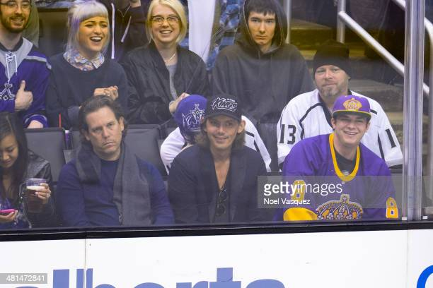 Lukas Haas attends a hockey game between the Winnipeg Jets and the Los Angeles Kings at Staples Center on March 29 2014 in Los Angeles California