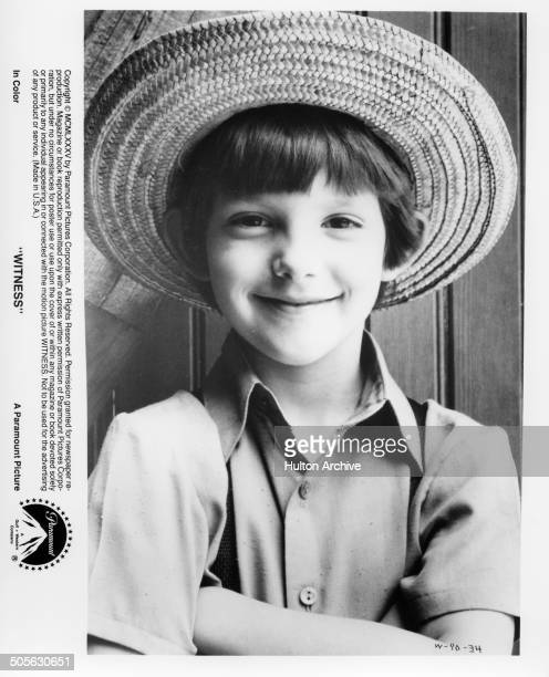 Lukas Haas poses for the Paramount Pictures movie 'Witness' circa 1985