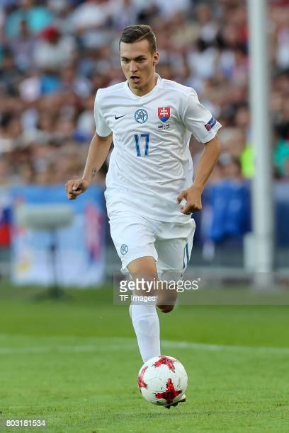 Lukas Haraslin of Slovakia in action during the 2017 UEFA European Under21 Championship match between Slovakia and England on June 19 2017 in Kielce...