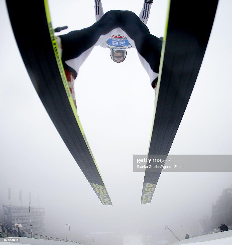 Lukas Hlava of the Czech Republic during the FIS Ski Jumping World Cup Vierschanzentournee (Four Hills Tournament) on January 04, 2013 in Innsbruck, Austria.