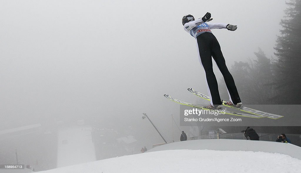 Lukas Hlava of the Czech Republic during the FIS Ski Jumping World Cup Vierschanzentournee (Four Hills Tournament) on January 04, 2013 in Innsbruck, Austria.