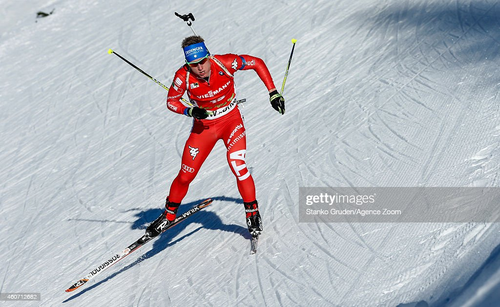 <a gi-track='captionPersonalityLinkClicked' href=/galleries/search?phrase=Lukas+Hofer&family=editorial&specificpeople=6583823 ng-click='$event.stopPropagation()'>Lukas Hofer</a> of Italy competes during the IBU Biathlon World Cup Men's and Women's Pursuit on December 20, 2014 in Pokljuka, Slovenia.