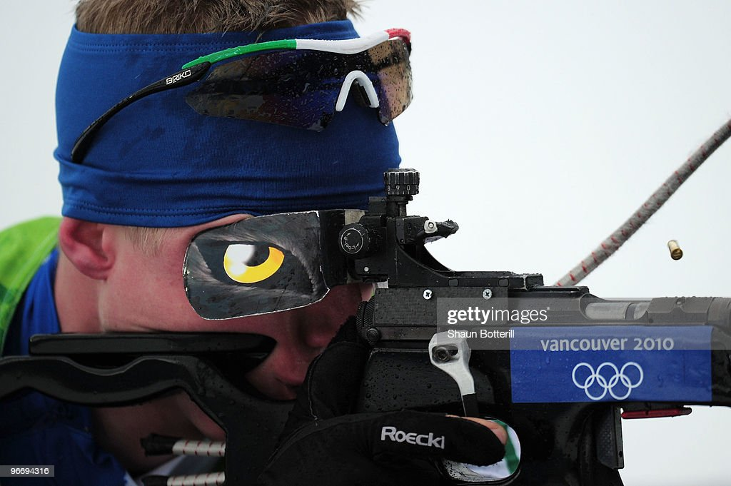 <a gi-track='captionPersonalityLinkClicked' href=/galleries/search?phrase=Lukas+Hofer&family=editorial&specificpeople=6583823 ng-click='$event.stopPropagation()'>Lukas Hofer</a> of Italy competes in the men's biathlon 10 km sprint final during the Biathlon Men's 10 km Sprint on day 3 of the 2010 Winter Olympics at Whistler Olympic Park Biathlon Stadium on February 14, 2010 in Whistler, Canada.
