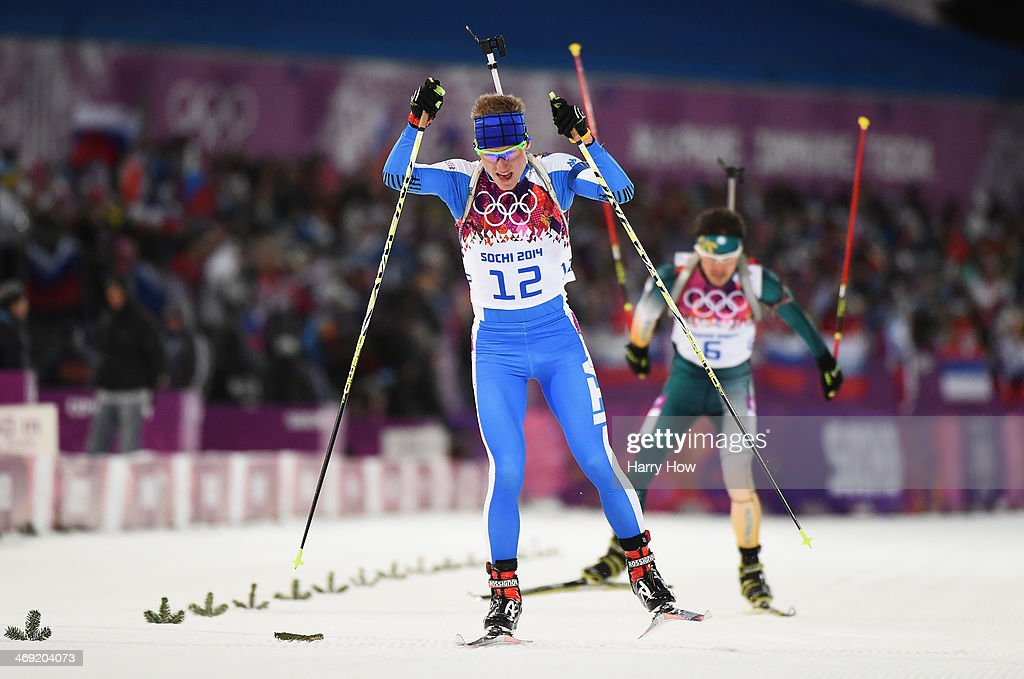 <a gi-track='captionPersonalityLinkClicked' href=/galleries/search?phrase=Lukas+Hofer&family=editorial&specificpeople=6583823 ng-click='$event.stopPropagation()'>Lukas Hofer</a> of Italy competes in the Men's Individual 20 km during day six of the Sochi 2014 Winter Olympics at Laura Cross-country Ski & Biathlon Center on February 13, 2014 in Sochi, Russia.