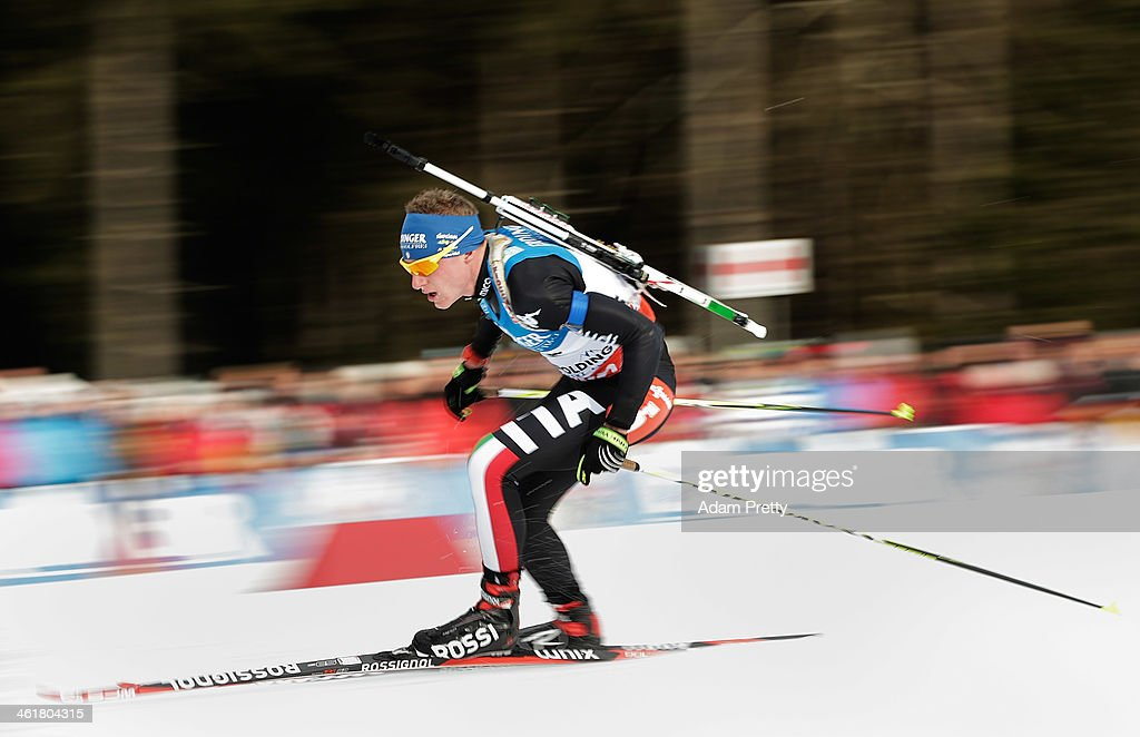 <a gi-track='captionPersonalityLinkClicked' href=/galleries/search?phrase=Lukas+Hofer&family=editorial&specificpeople=6583823 ng-click='$event.stopPropagation()'>Lukas Hofer</a> of Italy in action during the 20km mens individual on day four of the E.On IBU World Cup Biathlonon January 11, 2014 in Ruhpolding, Germany.