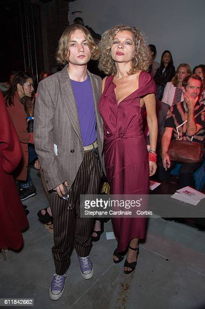 Lukas Ionesco and Eva Ionesco attend the Vivienne Westwood show as part of the Paris Fashion Week Womenswear Spring/Summer 2017 on October 1 2016 in...