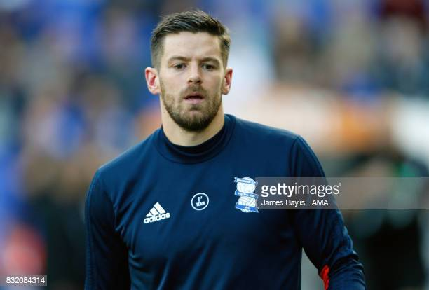 Lukas Jutkiewicz of Birmingham City before the Sky Bet Championship match between Birmingham City and Bolton Wanderers at St Andrews on August 15...