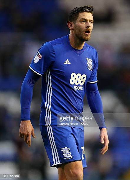Lukas Jutkiewicz of Birmingham City during the Emirates FA Cup Third Round match between Birmingham City and Newcastle United at St Andrews on...