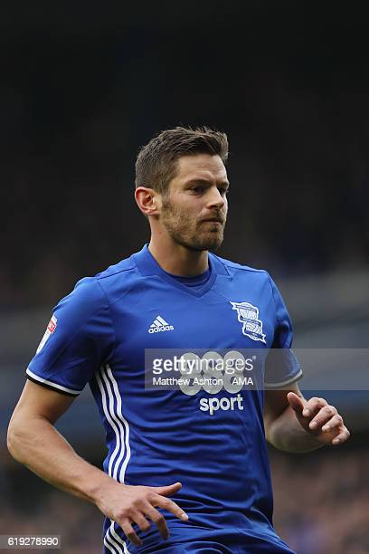 Lukas Jutkiewicz of Birmingham City during the Sky Bet Championship match between Birmingham City and Aston Villa at St Andrews on October 30 2016 in...