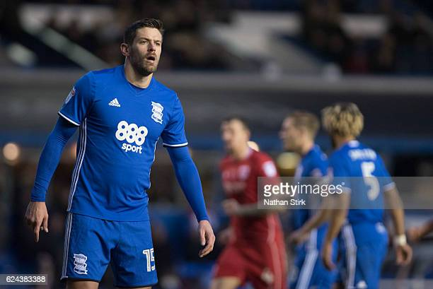 Lukas Jutkiewicz of Birmingham City looks on during the Sky Bet Championship match between Birmingham City and Bristol City at St Andrews Stadium on...