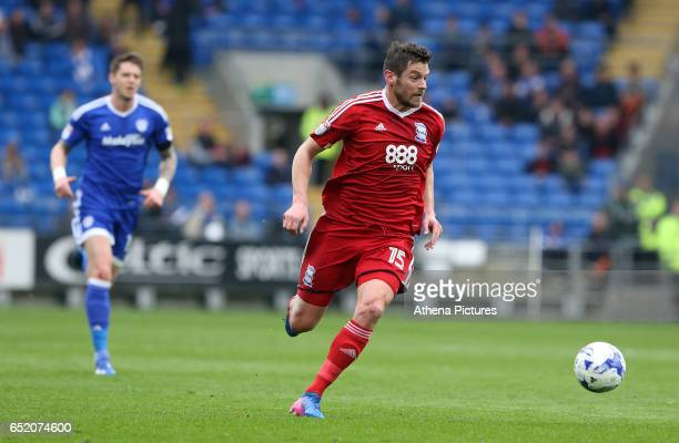 Lukas Jutkiewicz of Birmingham City looks to attack during the Sky Bet Championship match between Cardiff City and Birmingham City at The Cardiff...