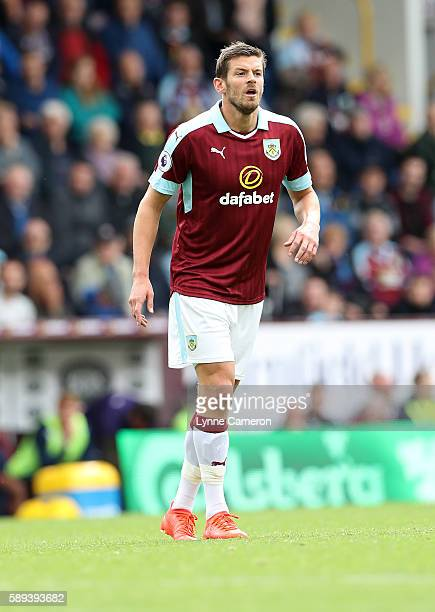 Lukas Jutkiewicz of Burnley during the Premier League match between Burnley and Cardiff City at Turf Moor on August 13 2016 in Burnley England