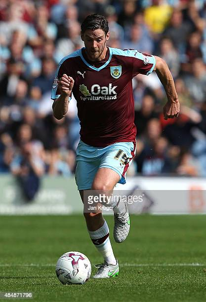 Lukas Jutkiewicz of Burnley during the Sky Bet Championship match between Burnley and Brentford at Turf Moor on August 22 2015 in Burnley England