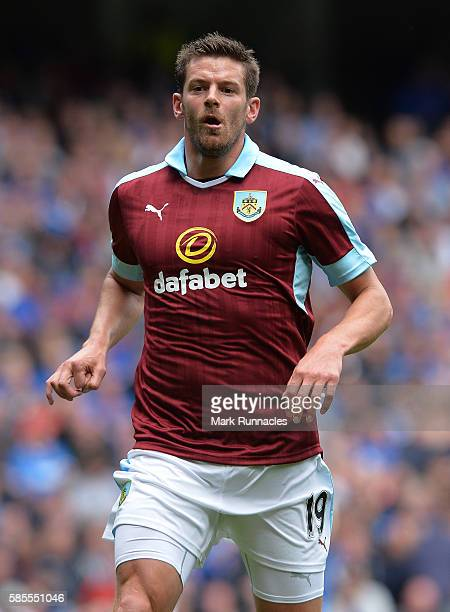 Lukas Jutkiewicz of Burnley in action during a preseason friendly between Rangers FC and Burnley FC at Ibrox Stadium on July 30 2016 in Glasgow...