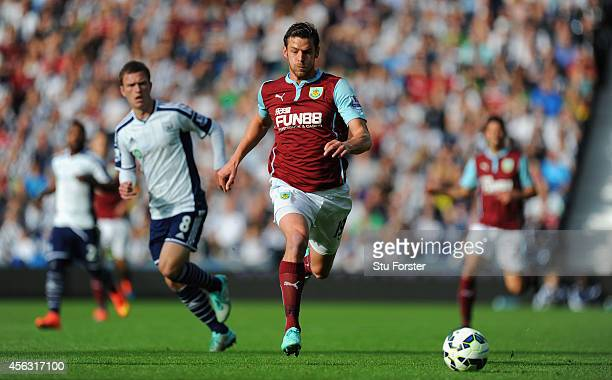 Lukas Jutkiewicz of Burnley in action during the Barclays Premier League match between West Bromwich Albion and Burnley at The Hawthorns on September...