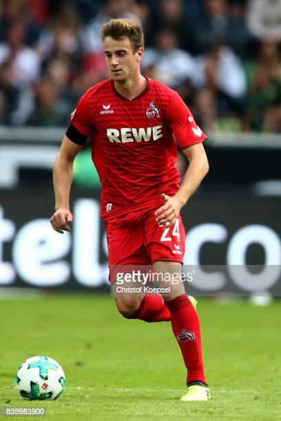 Lukas Klnter of Kln runs with the ball during the Bundesliga match between Borussia Moenchengladbach and 1 FC Koeln at BorussiaPark on August 20 2017...