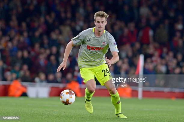 Lukas Klünter of Koeln controls the ball during the UEFA Europa League group H match between Arsenal FC and 1 FC Koeln at Emirates Stadium on...