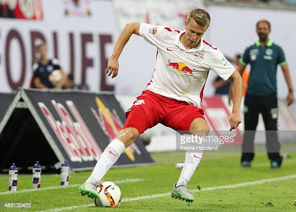 Lukas Klostermann of during the Second Bundesliga match between RB Leipzig and SpVgg Greuther Fuerth at Red Bull Arena on August 3 2015 in Leipzig...
