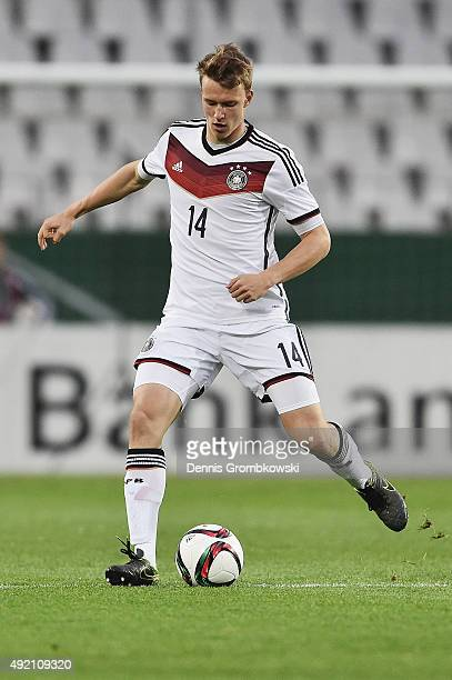 Lukas Klostermann of Germany controls the ball during the 2017 UEFA European U21 Championships Qualifier between U21 Germany and U21 Finland at...