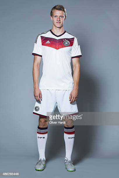 Lukas Klostermann of Germany poses during the team presentation of Germany U21on August 31 2015 in Hamburg Germany