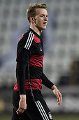 Lukas Klostermann of Germany reacts during the 2017 UEFA European U21 Championships Qualifier between U21 Faroe Islands and U21 Germany at Torsvollur...