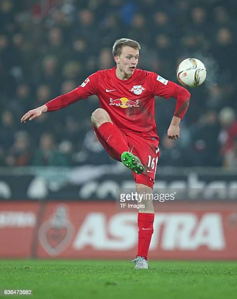 Lukas Klostermann of RB Leipzig in action during the Second Bundesliga match between FC St Pauli and RasenBallsport Leipzig at MillerntorStadion on...