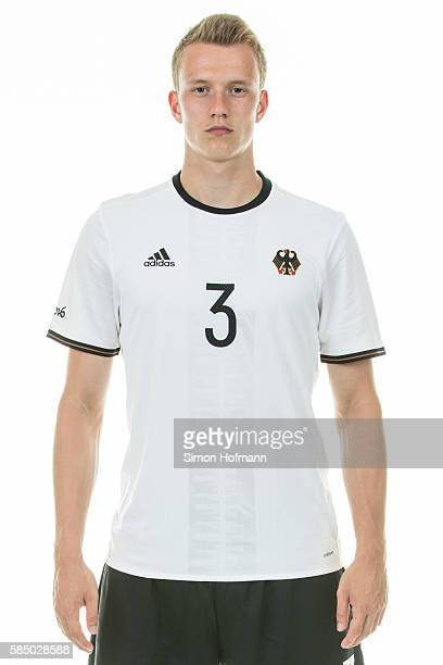 Lukas Klostermann poses during the German Olympic Football Team Photocall on July 30 2016 in NeuIsenburg Germany